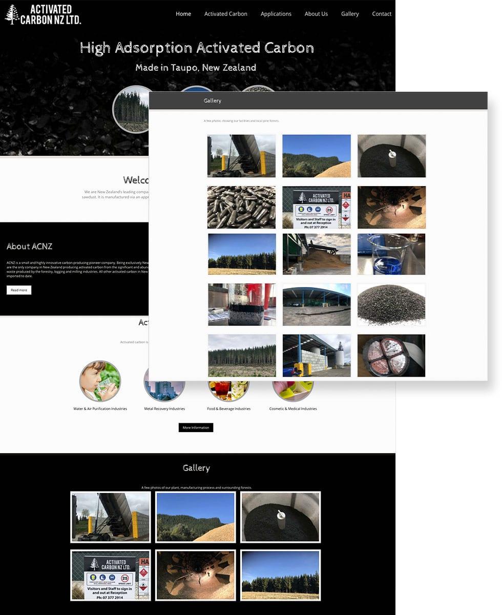 Activated Carbon Website Display