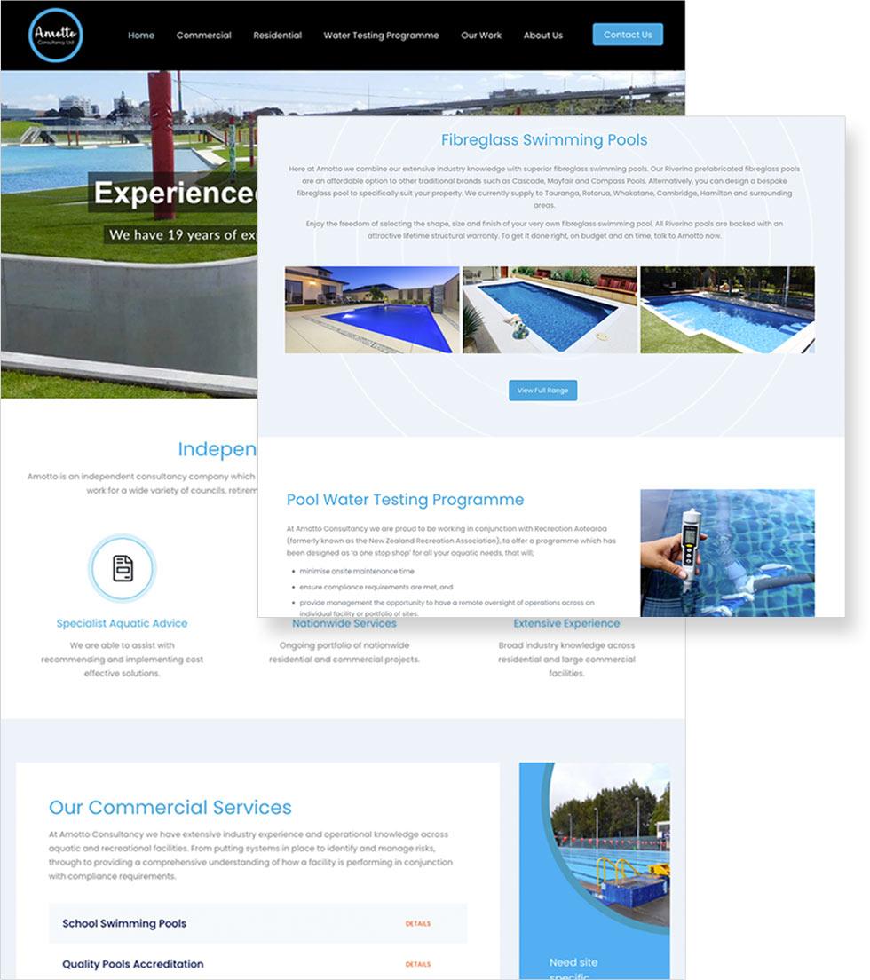 Amotto Website on display