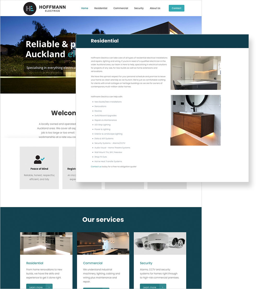 Hoffmann Electrics Website Display